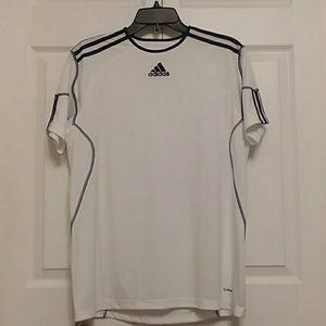 NWOT ADIDAS Mens Athletic T-shirt XL White & Blue